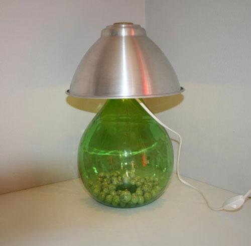 lampada con bottiglione