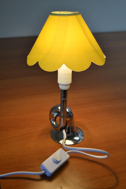 """""""luce alle trombe..."""" lampada con trombetta per bici"""