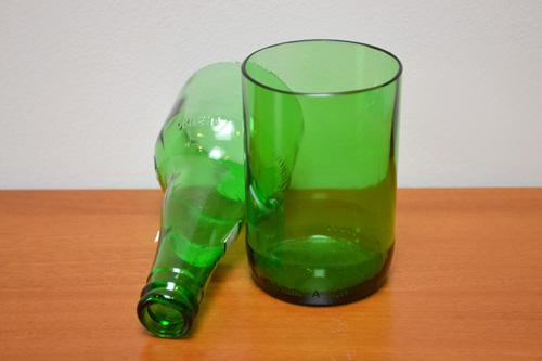 bicchiere ricavato da bottiglia