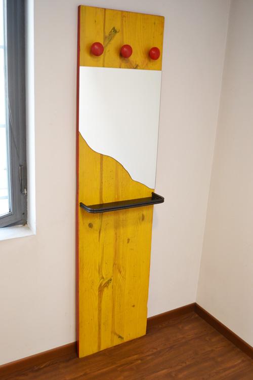 """appendiabiti a muro con specchio stile """"edile"""""""