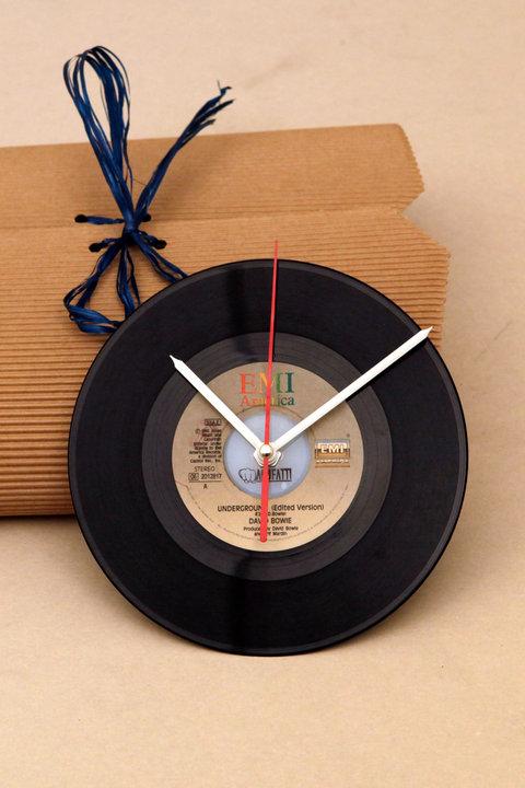 """""""Manuclock"""" orologio con vinile 45"""